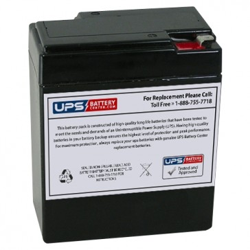 CooPower 6V 9Ah CP6-9.0 Battery with F2 Terminals
