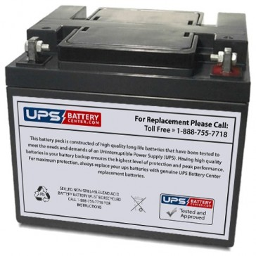 CSB 12V 40Ah GP12400 Battery with F6 - Nut & Bolt Terminals