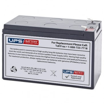 CSB 12V 7.2Ah GPL1272 Battery with F1 Terminals