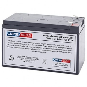 CSB 12V 9Ah HRL1234WF2 Battery with F2 Terminals
