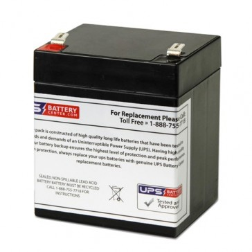 Energy Power 12V 5.2Ah EP-SLA12-5.2T2 Battery with F2 Terminals
