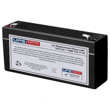 Energy Power 6V 3.2Ah EP-SLA6-3.2 Battery with F1 Terminals