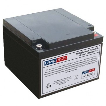 FirstPower FP12240 12V 24Ah Battery with M5 Insert Terminals
