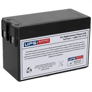 FirstPower 12V 2.5Ah FP1225 Battery with F1 Terminals