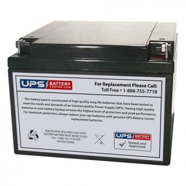 FirstPower FP12260 12V 26Ah Battery with F3 - Nut & Bolt Terminals