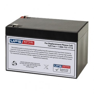 Gaston 12V 12Ah GT12-12 Battery with F2 Terminals