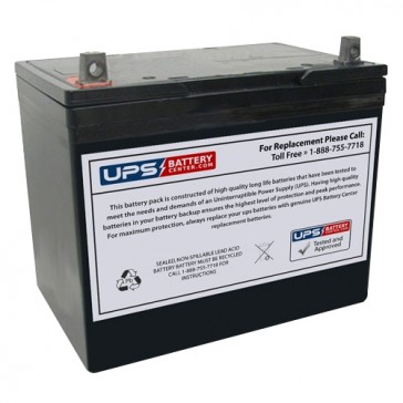 Gaston 12V 75Ah GT12-75 Battery with NB Terminals