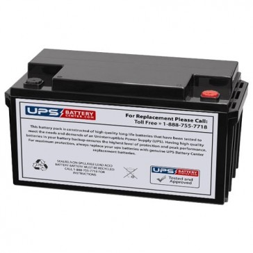 LCB SP65-12 12V 65Ah Battery with M6 Insert Terminals