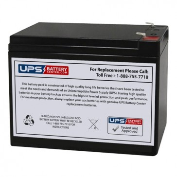 LCB 12V 10Ah UP1280W Battery with F2 Terminals