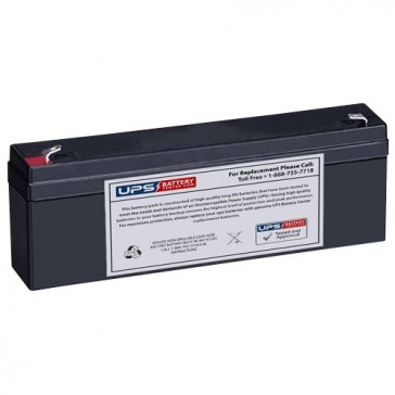 Leoch 12V 2.3Ah LP12-2.3 Battery with F1 Terminals