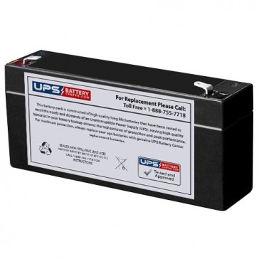 LongWay 6V 3.2Ah 3FM3.2 Battery with F1 Terminals