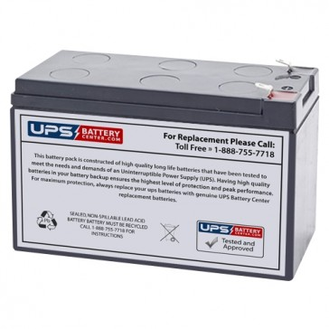 Power-Sonic 12V 9Ah PS-1290 Battery with F2 Terminals