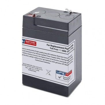 Power-Sonic 6V 4.5Ah PS-640 Battery with F1 Terminals
