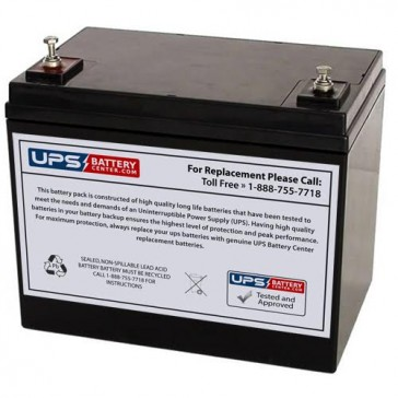 SeaWill LSW1275HR 12V 75Ah Replacement Battery