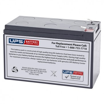 Sunnyway 12V 7.2Ah SW1275 Battery with F2 Terminals