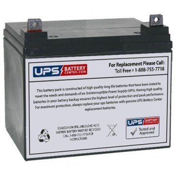 Sunnyway 12V 35Ah SWE12350 Battery with F7 - Nut & Bolt Terminals