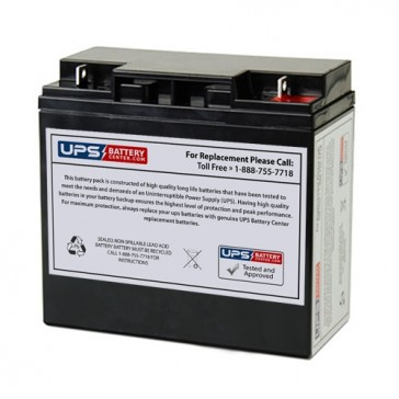TLV12200DC - 12V 20Ah Deep Cycle battery with F3 Nut & Bolt Terminals