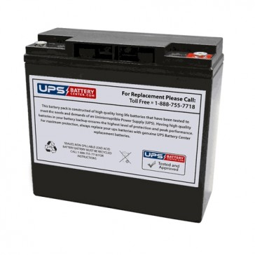 12VHR80W - VCELL 12V 18Ah M5 Replacement Battery