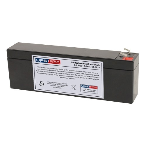 12v 2 6ah Sealed Lead Acid Battery With F1 Terminals On