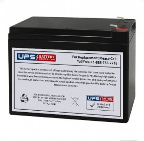 12V 10Ah Rechargeable Toy Battery with F2 Terminals