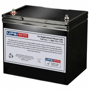 Cellpower 12V 80Ah CPL 80-12 Battery with M6 Insert Terminals
