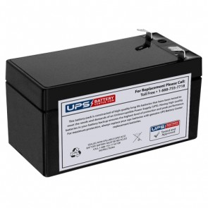 CooPower 12V 1.2Ah CP12-1.2 Battery with F1 Terminals