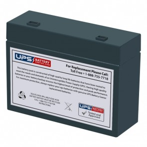 CooPower 12V 5.4Ah CP12-5.4B Battery with +F2 / -F1 Recessed Terminals