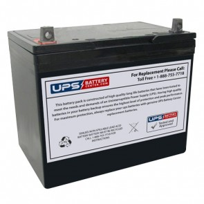 CooPower 12V 75Ah CP12-75 Battery with NB Terminals