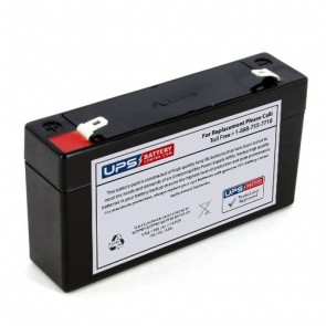 Criticare Systems 1040 Pulse Oximeter 6V 1.2Ah Medical Battery with F1 Terminals