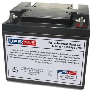 DataLex 12V 40Ah NP40-12 Battery with F6 Terminals