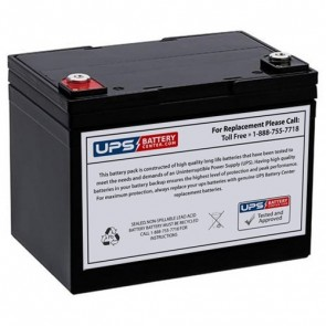 FIAMM 12V 33Ah 12FGL33 Battery with F9 Insert Terminals