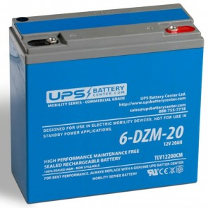 LCB 12V 20Ah 6-DZM-20 Battery with Threaded Insert Terminals
