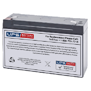 LCB ES12-6 6V 12Ah Battery with F1 Terminals