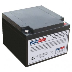 LCB 12V 28Ah EV28-12 Battery with M6 - Insert Terminals