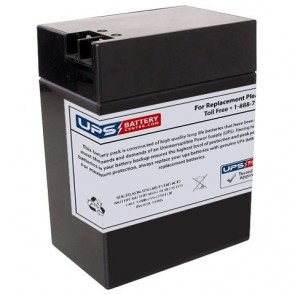 LCB SP13-6 6V 14Ah Battery with +F2 -F1 Terminals