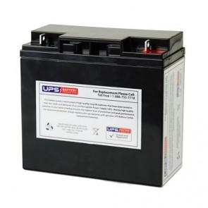 LCB 12V 18Ah UP12136W Battery with F3 - Nut & Bolt Terminals