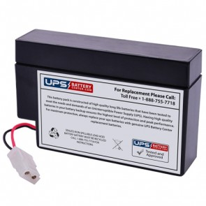 Leoch DJW12-0.8 12V 0.8Ah Battery with WL Terminals