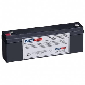 Leoch 12V 2.3Ah LPX12-2.2 Battery with F1 Terminals