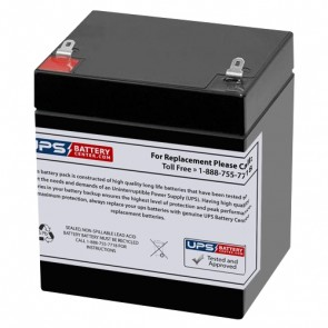 Power-Sonic 12V 5Ah PS-1240 Battery with F1 Terminals