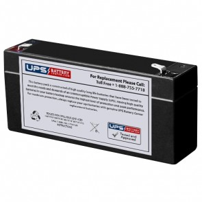 Rigel 304, 309 E.C.G. Monitor 6V 2.8Ah Medical Battery with F1 Terminals