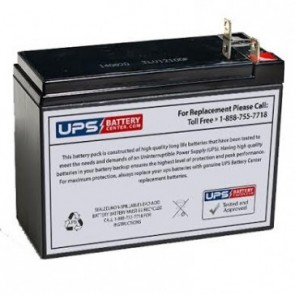 "Sunnyway SW12120 12V 12Ah Battery - Tall and narrow - L: 5.95"" x W: 2.56"" x H: 4.37"""