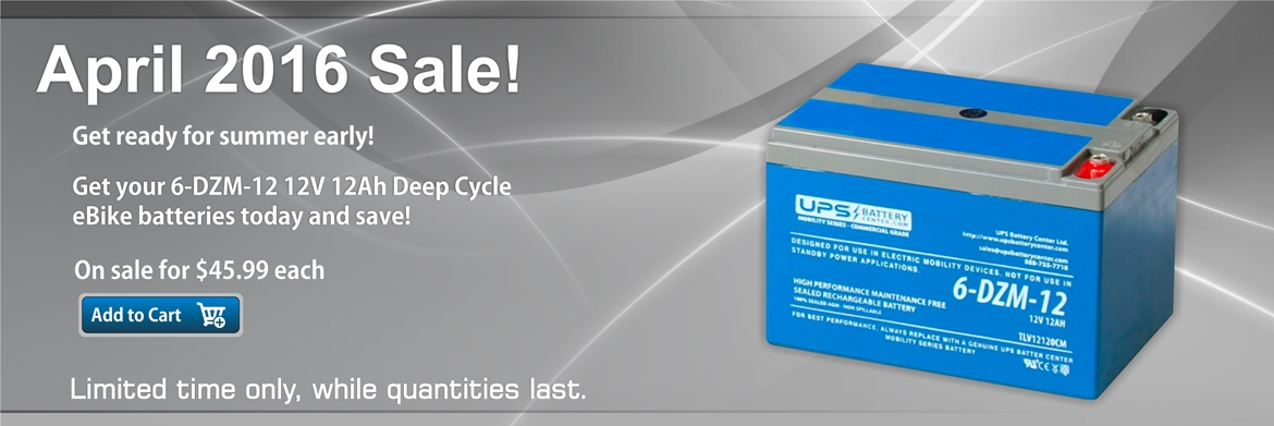 6-DZM-12 12V 12Ah Deep Cycle Battery on Sale Now